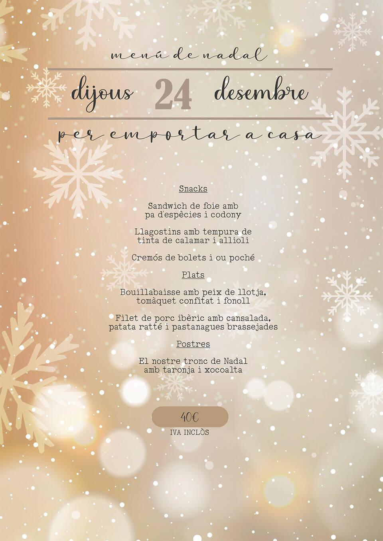 Menú de Navidad para llevar a casa 24-12